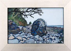 'Lonesome Pine' - oil on board in laquered frame 2007